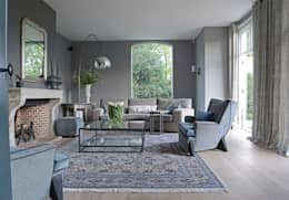 Projekty,  Salon zaprojektowane przez PJ van Aalst exclusieve tapijten BV