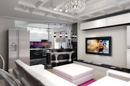 Salas de estar minimalistas por Дизайн студия 'Exmod' Павел Цунев