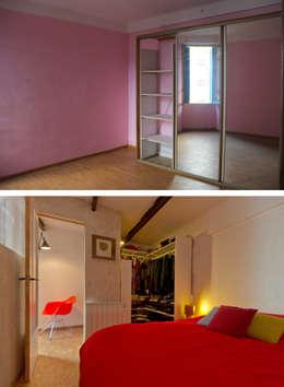 La chambre avant et après:  de style  par Atelier RnB