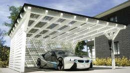 Garajes de estilo moderno por Solarterrassen & Carportwerk GmbH