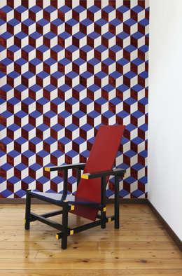Papier peint Théo - Collection WOODSTOCK: Murs & Sols de style de style Moderne par MUES design
