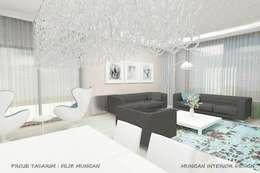 MUNGAN INTERIOR DESIGN – iç mekan,stant ve ürün tasarımları: minimal tarz tarz Oturma Odası