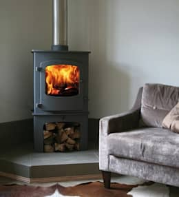 Charnwood Cove 2B Boiler Stove: country Living room by Direct Stoves