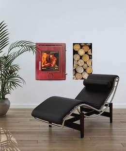 Projekty,  Salon zaprojektowane przez Direct Stoves