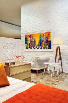 LOFT DA MULHER CONTEMPORÂNEA por Adriana Scartaris: Casas ecléticas por Adriana Scartaris design e interiores