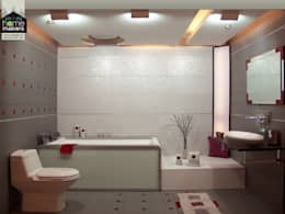 Modern Bathroom: modern Bathroom by home makers interior designers & decorators pvt. ltd.