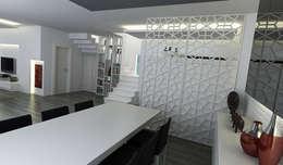 Niyazi Özçakar İç Mimarlık – E.K. EVİ: modern tarz Yemek Odası