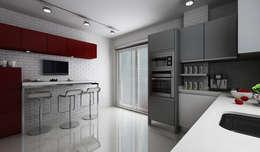 Niyazi Özçakar İç Mimarlık – E.K. EVİ: modern tarz Mutfak