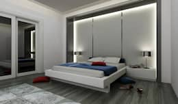 Niyazi Özçakar İç Mimarlık – E.K. EVİ: modern tarz Yatak Odası