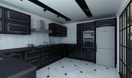 Niyazi Özçakar İç Mimarlık – M.A. EVİ: eklektik tarz tarz Mutfak