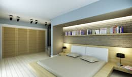 Niyazi Özçakar İç Mimarlık – M.A. EVİ: modern tarz Yatak Odası
