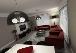 Niyazi Özçakar İç Mimarlık – METROKENT BURSA: modern tarz Oturma Odası