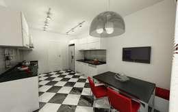 Niyazi Özçakar İç Mimarlık – METROKENT BURSA 3+1: modern tarz Mutfak