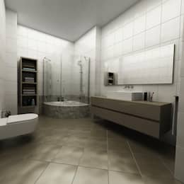 modern Bathroom by Niyazi Özçakar İç Mimarlık