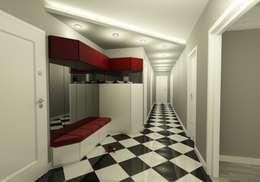 Couloir et hall d'entrée de style  par Niyazi Özçakar İç Mimarlık