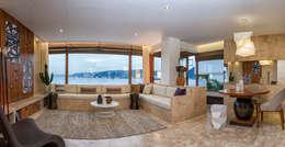 Salas / recibidores de estilo moderno por AK Design Studio