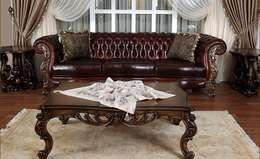 Asortie Mobilya Dekorasyon Aş.  – APOLYON DERİ KOLTUK TAKIMI: klasik tarz tarz Oturma Odası