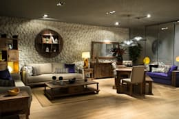 Kuta Home – DEEP KANEPE: kolonyal tarz tarz Oturma Odası
