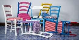 Le sedie della tradizione diventano oggetti di design: Case in stile in stile Eclettico di Plinca Home