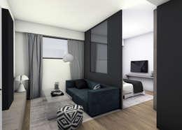 modern Living room by EVA MYARD interior