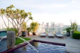 Duplex Cidade Jardim - São Paulo: Piscinas clássicas por Brunete Fraccaroli Arquitetura e Interiores