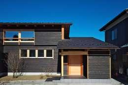 正面外観: DEMU建築設計事務所が手掛けた家です。