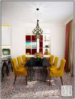 Студия дизайна Светланы Исаевой: eklektik tarz tarz Yemek Odası