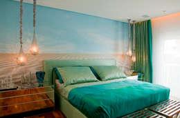 Dormitorios de estilo  por Brunete Fraccaroli Arquitetura e Interiores