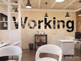 Мини-офис на ул. Рождественская (г. Н. Новгород): Рабочие кабинеты в . Автор – Мастерская дизайна Welcome Studio