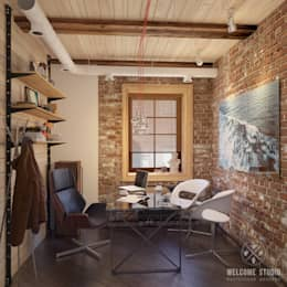 Мастерская дизайна Welcome Studio: endüstriyel tarz tarz Çalışma Odası