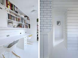 ห้องทำงาน/อ่านหนังสือ by Brown + Brown Architects