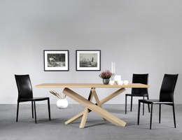 Lestro Wood: Sala da pranzo in stile in stile Moderno di Lestrocasa Firenze