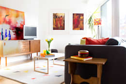 Hampstead Heath Apartment: eclectic Living room by Bhavin Taylor Design