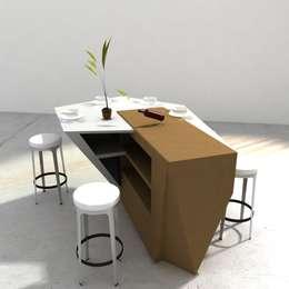 CALM LION 2009: Salle à manger de style de style Moderne par ATELIER ROMANET ARCHITECTES