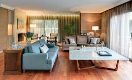 Paker Mimarlık – GÜÇLÜ EVİ: modern tarz Oturma Odası
