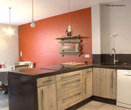 Maison de village - cuisine 2: Cuisine de style de style eclectique par Koloré