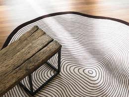 [디자인카페트,북유럽카페트,북유럽인테리어,내츄럴인테리어] FLADER : CAURA CARPET의  벽 & 바닥