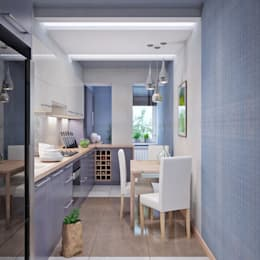 Cuisine de style de style Minimaliste par Студия дизайна Interior Design IDEAS
