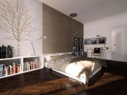 Chambre de style de style Minimaliste par Graziella Fittipaldi Architetto