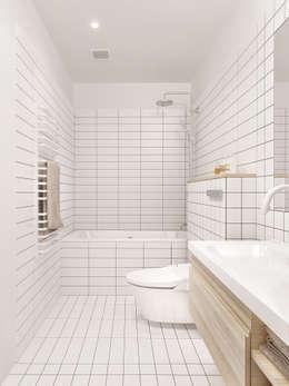 Banheiros minimalistas por INT2architecture
