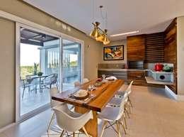 Espaço gourmet: Salas de jantar modernas por Espaço do Traço arquitetura