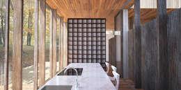 Vue de la cuisine: Maisons de style de style Rustique par Wen Qian ZHU Architecture