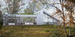 Vue de jardin: Maisons de style de style Rustique par Wen Qian ZHU Architecture