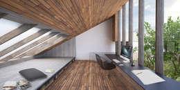 Vue du bureau: Maisons de style de style Rustique par Wen Qian ZHU Architecture