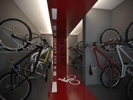 Bike Garage: Garagens e edículas modernas por Ideia1 Arquitetura