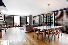 DICLE HOKENEK ARCHITECTURE – TS EVI: modern tarz Oturma Odası