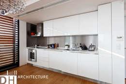 DICLE HOKENEK ARCHITECTURE – TS EVI: endüstriyel tarz tarz Mutfak