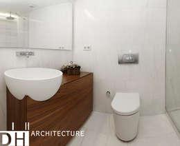 DICLE HOKENEK ARCHITECTURE – TS EVI: modern tarz Banyo