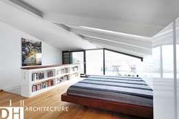 DICLE HOKENEK ARCHITECTURE – TS EVI: modern tarz Yatak Odası