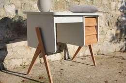 """""""Martin"""" : Superbe bureau vintage aux lignes scandinaves: Bureau de style de style Scandinave par Sérénisse"""